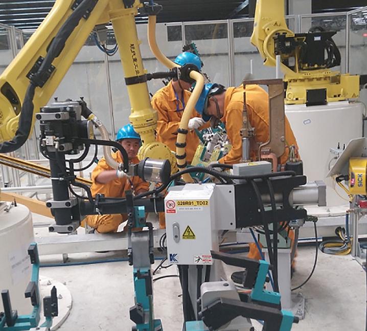 北汽车身焊装线安装项目